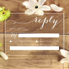 Acrylic Infinity rsvp wedding card