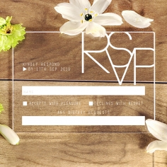 Acrylic Minimalist Love rsvp card design