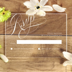 Acrylic Polished Affair rsvp enclosure card