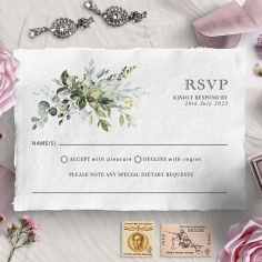 Beautiful Devotion wedding rsvp card