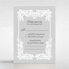 Black Divine Damask rsvp wedding enclosure card