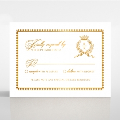 Black Doily Elegance with Foil rsvp invitation design