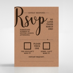 Chic Country Passion rsvp enclosure card