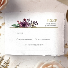 Contemporary Love rsvp wedding enclosure design