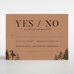Delightful Forest Romance rsvp wedding enclosure design