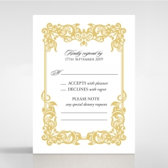 Divine Damask rsvp card design