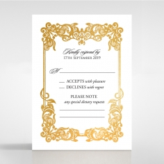 Divine Damask with Foil rsvp design