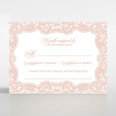 Floral Lace with Foil rsvp card design