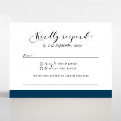 Forever Love Booklet - Navy rsvp card