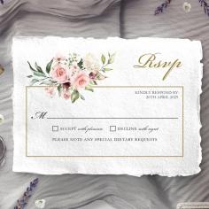Geometric Bloom rsvp wedding enclosure card design
