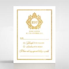 Gold Foil Baroque Gates rsvp wedding enclosure card design