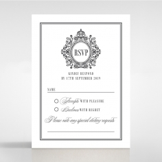 Golden Baroque Gates rsvp wedding enclosure card design