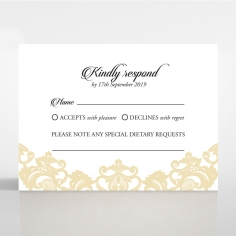 Golden Baroque Pocket rsvp wedding card