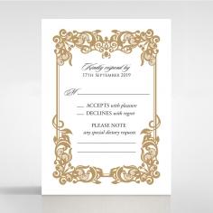 Golden Divine Damask rsvp enclosure card