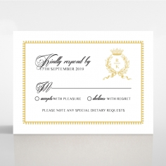 Ivory Doily Elegance rsvp card design
