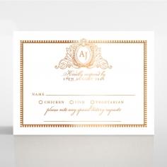 Lux Royal Lace with Foil rsvp invitation design