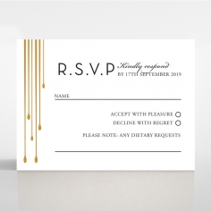 Luxe Intrigue rsvp invitation design
