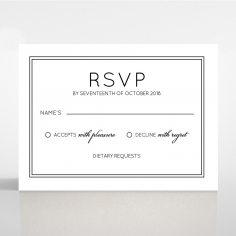 Luxe Paper Elegance rsvp card
