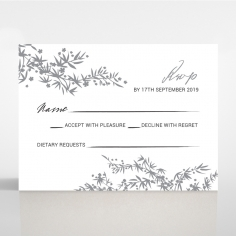 Oriental Romance rsvp wedding enclosure card