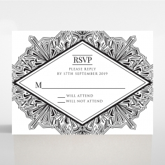 Paper Ace of Spades rsvp wedding enclosure design