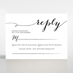 Paper Infinity rsvp wedding card