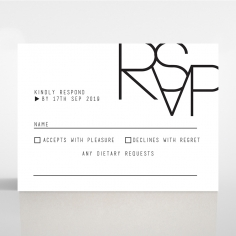 Paper Minimalist Love rsvp card design