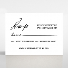 Paper Modern Romance rsvp wedding card design