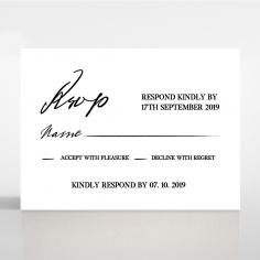 Paper Modern Romance rsvp wedding card design