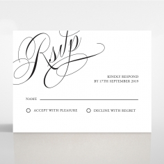 Paper Polished Affair rsvp enclosure card