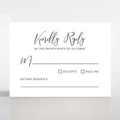 Paper Timeless Simplicity rsvp invitation