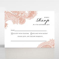 Regal Charm Letterpress rsvp design