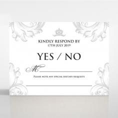 Regally Romantic wedding rsvp card