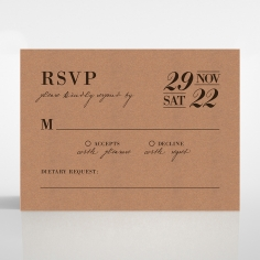 Rustic Love Notes rsvp wedding enclosure card design