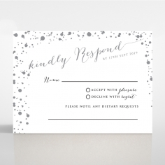 Star Dust rsvp wedding card