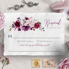 Their Fairy Tale rsvp wedding card design