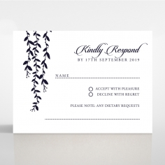 Unbroken Romance wedding rsvp card