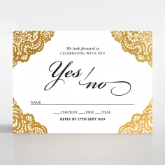 Vintage Prestige with Foil rsvp invite
