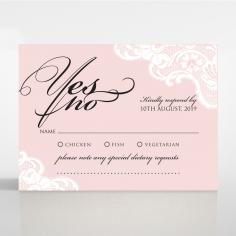 White Lace Drop rsvp invitation design
