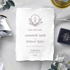 Ace of Spades with Deckled Edges wedding save the date card