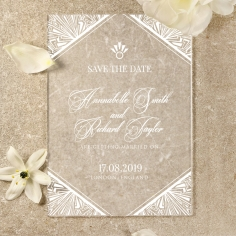 Acrylic Ace of Spades save the date stationery card item