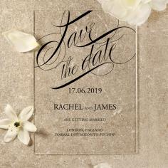 Acrylic Polished Affair save the date card design