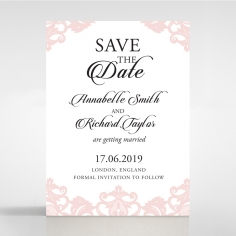 Baroque Pocket save the date stationery card