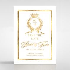 Black Doily Elegance with Foil save the date wedding card design
