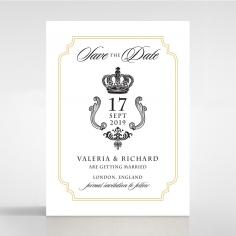 Black Victorian Gates wedding save the date stationery card design