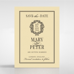 Damask Love wedding save the date card design