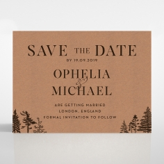Delightful Forest Romance save the date wedding stationery card