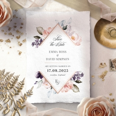 Enchanting Florals save the date card design