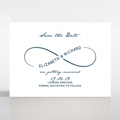 Eternal Simplicity wedding save the date stationery card design