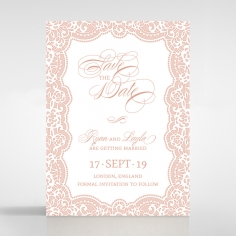 Floral Lace with Foil wedding save the date card