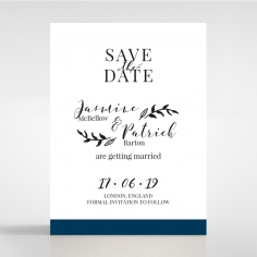 Forever Love Booklet - Navy save the date stationery card design